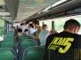 júliusi KM5 Edzőtábor - Álló és közlekedő buszon
