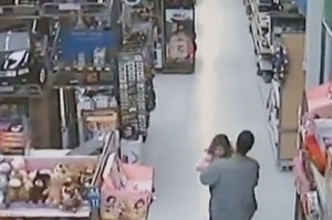 CCTV footage- Girl fights off abductor
